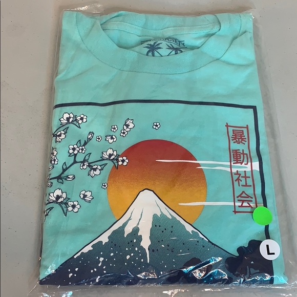 Riot Society Mount Fuji Mens Long Sleeve T-Shirt